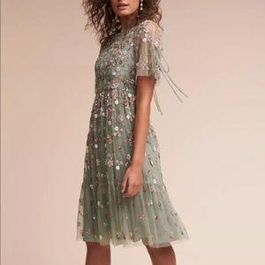 $598 Needle & Thread Bobbi Tulle Green Dress Size8